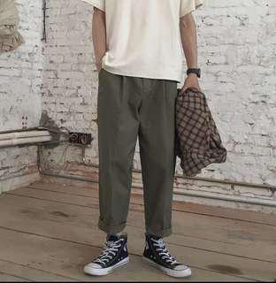 🚚 韓國軍綠寬褲