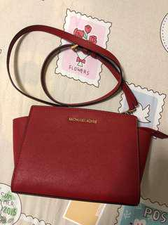 Michael Kors MK red sling bag