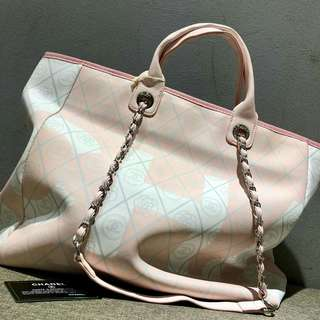 Chanel Large Shopping Tote Bag Light Pink Color