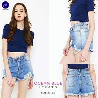 27-34 Premium Jeans Puss Up Hotpants jeans ocean blue hotpants jumbo