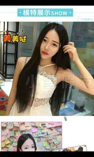 (NO INSTOCKS!) PREORDER ONLY korean centre parting long & neat straight hair wig * waiting time 15 days after payment is made *chat to buy to order