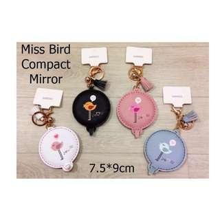 Japan Quality Miniso - Cermin Lipat Miss Bird Compact Mirror Import
