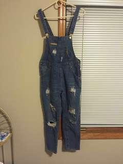 棠棠媽咪吊帶褲 牛仔褲
