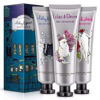 🚚 3pcs Set CAT STREET Hand Cream