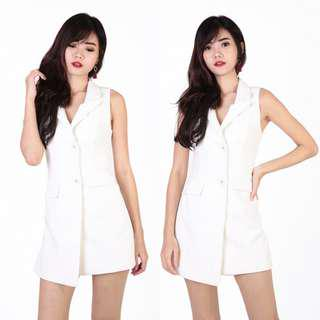 f51a2ffc60 MGP Audre Tuxedo Playsuit (White) S