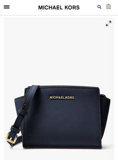 MICHAEL KORS Selma Mini Saffiano Leather Crossbody