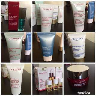 Clarins variety of skin care product see description for price