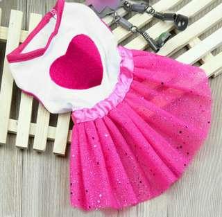 ❌ Dress tutu pink hewan IMPORT