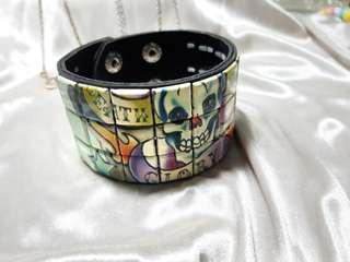 中性/骷髏頭街頭風皮革手環(非真皮)