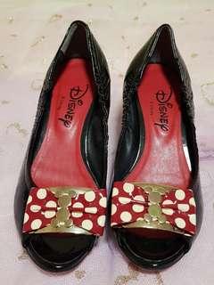 🚚 DIANA DISNEY 米妮限定版魚口鞋 MADE IN JAPAN