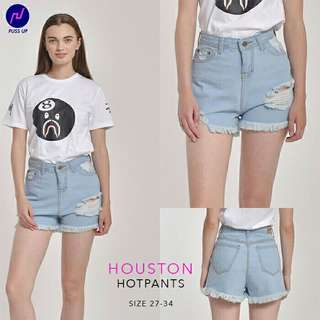 Size 27-34 Premium Jeans Puss Up Hotpants jeans hw houston hotpants jumbo hotpants sobek ripped hotpants