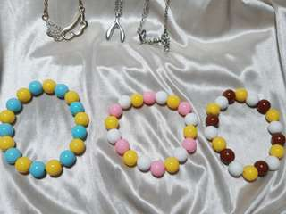 糖果珠 手鍊一條20三條50