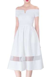 Doublewoot Off Shoulder Dress Diones (White)
