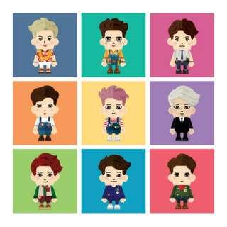 SM SUM EXO : PAPER TOY CANDIES🌈