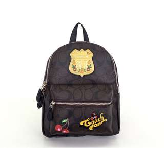 Coach Mini Charlie Signature with Patches