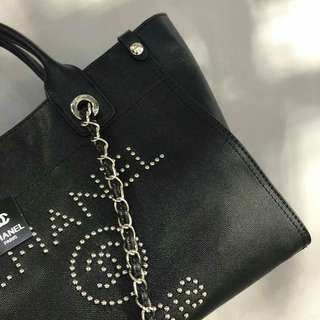 Chanel Shopping Tote Bag Black