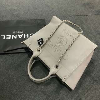 Chanel Shopping Tote Bag Beige Color