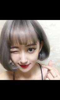 *New arrival Preorder Korean air bangs short bobo wig * waiting time 15 days after payment is made *chat to buy to order