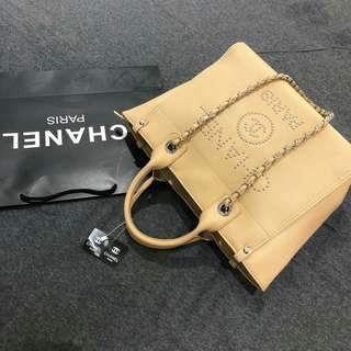 Chanel Shopping Tote Yellow Color