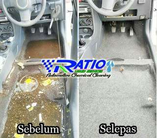 Interior cleaning detailing fabric cuci seat