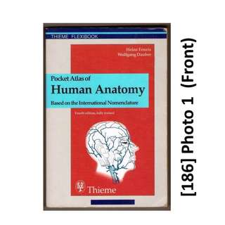 [186] POCKET SIZE Med Book, Pocket Atlas of Human Anatomy,