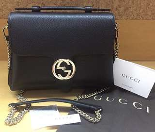 🈹Gucci GG Marmont 風琴包interlocking shoulder with handle bag