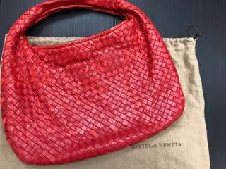 Bottega Veneta red leather 真皮 bv