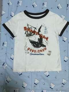 Baby Gap White Shirt with Black Lining