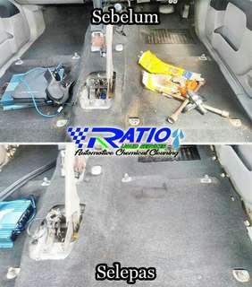 Cuci seat fabric detailing interior cleaning