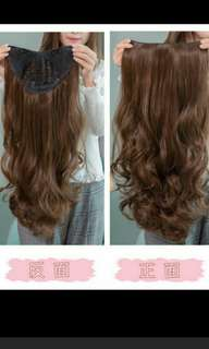 'Preorder korean U shape wavy ladies clip on wig *waiting time 15 days after payment is made *pm to order