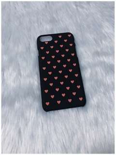 iPhone 7/8 Black Hearts Hard Case