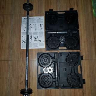 Dumbell + Barbell Set >20kg Kettler