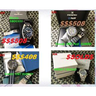 MANY WATCHES FOR SALES