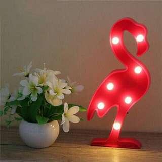 lampu tidur flamingo shabby chic