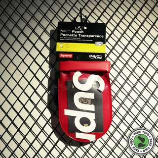 """SUPREME SEE POUCH 小袋 """"RED"""" / """"BLACK"""""""