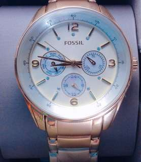 Fossil Male Quartz Stainless Steel Chronograph Gold-tone Watch
