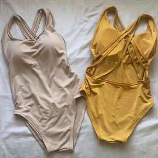 Repriced! Mustard Yellow One Piece Swimsuit