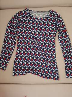 Uniqlo Heat Tech Mickey Mouse Long Sleeve Shirt