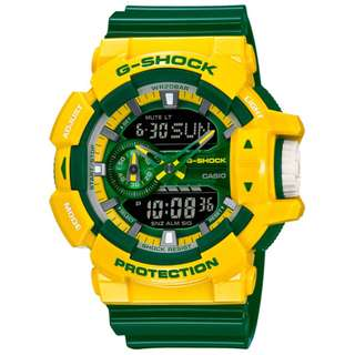 CASIO G-SHOCK GA-400 series GA-400CS-9A 黃綠色 GSHOCK GA400CS