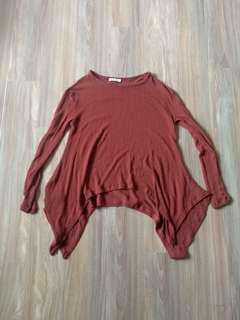 Sass swing knit jumper xs brick brown