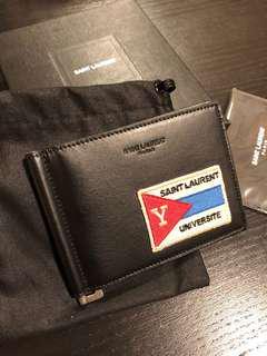 Saint Laurent YSL Universite Wallet 銀包全新