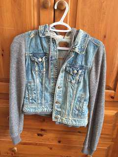 Jean jacket sweater