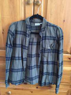 M boutique plaid shirt