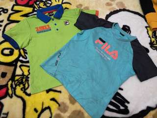 Combo, kids Fila tshirt, free postage
