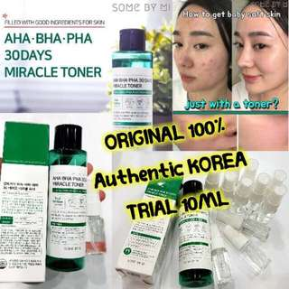 SOME BY MI MIRACLE TONER TRIAL PACK 10ml