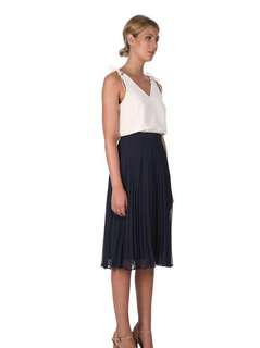 Cooper St navy midi skirt - new with tags!