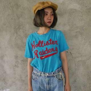 🚚 🌴Hollister水藍色美式復古短袖T恤 海鷗 男女皆可Vintage 二手古著