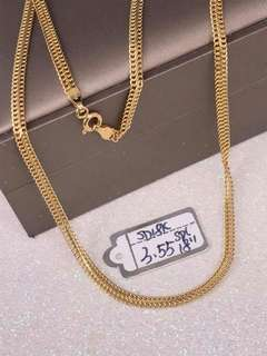 Saudi Gold 18k Necklace (18inch)