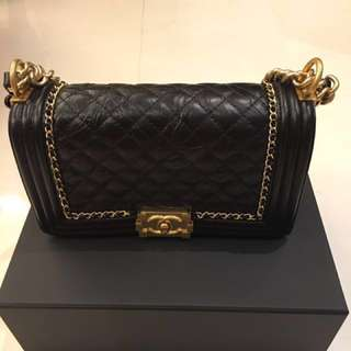 Chanel boy In Gold hardware