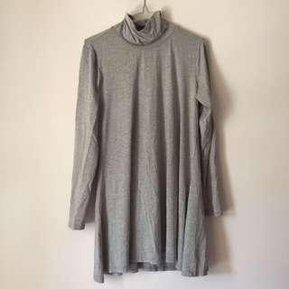 Grey mockneck dress